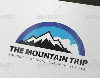The Mountain Trip Logo Template