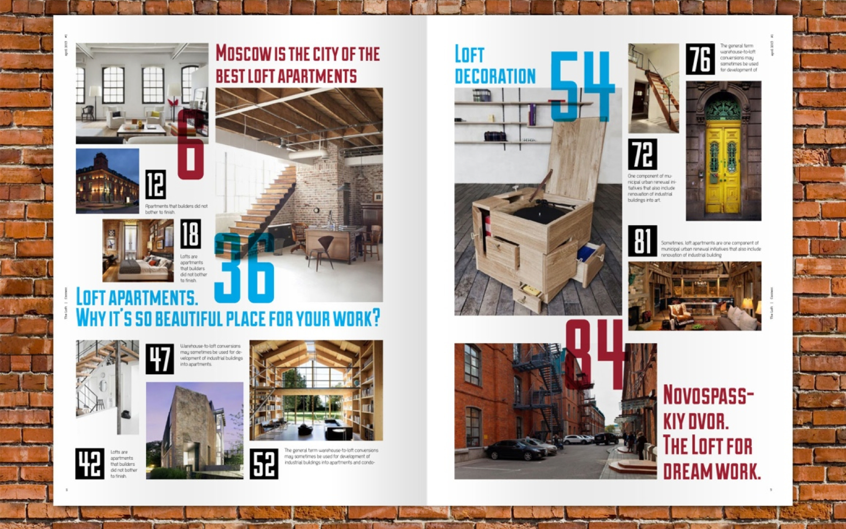 The Loft Magazine Layout