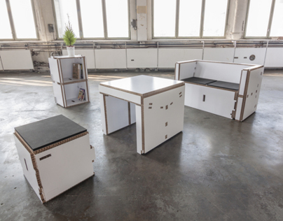 Modular Paper Furniture