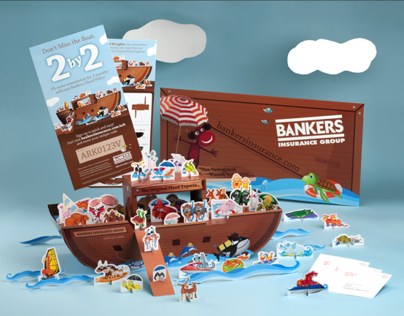 1313 Bankers Insurance Group Direct Mail 3D Campaign