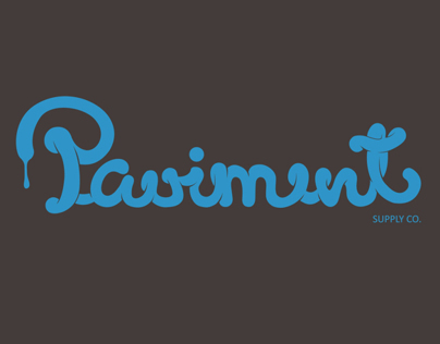 Paviment Print Typography