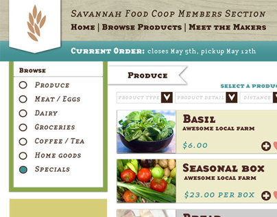 Savannah Food Coop Redesign