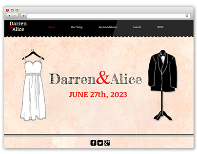 Darren and Allice- Wix Template