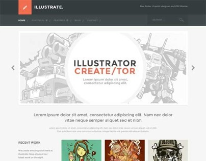 Illustrate, WordPress Responsive Portfolio Blog Theme