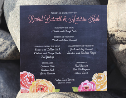 Marissa + David | Wedding Program