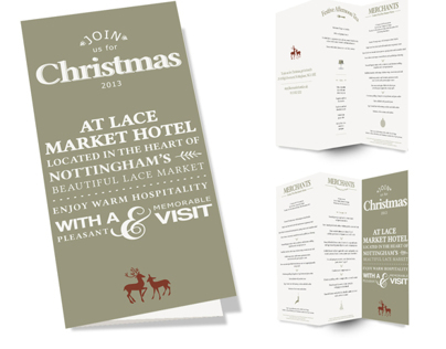 Lace Market Hotel Christmas Menu