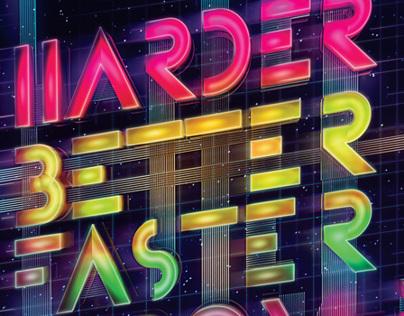 Daft Punk - Typography Poster