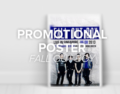 Fall Out Boy Promotional Poster