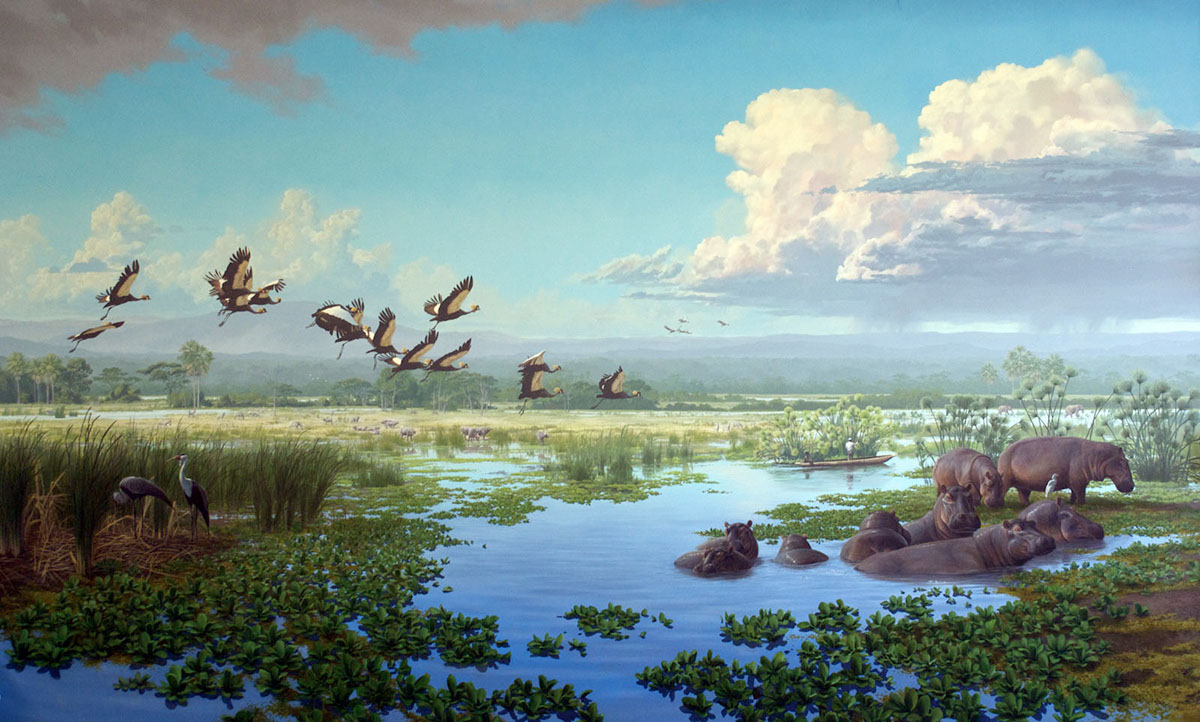 International Crane Foundation, African Cranes Mural