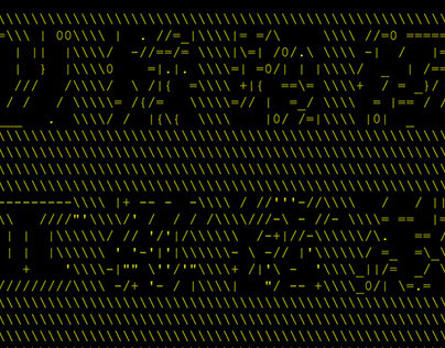 ASCII/Text blobs