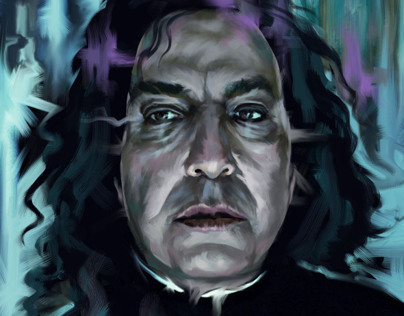 HARRY POTTER Portraits: Dumbledore and Severus Snape