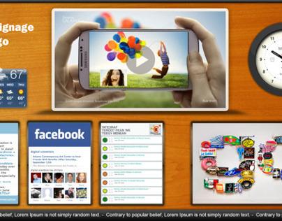 Falcon Digital Signage Software UI Design
