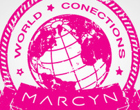 Selos (carimbos) World Conections Marcyn