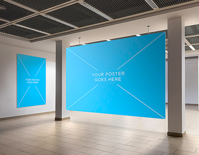 Photorealistic Poster Gallery  Mock-Up