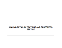 Retail Operation and Customer Service (2008)