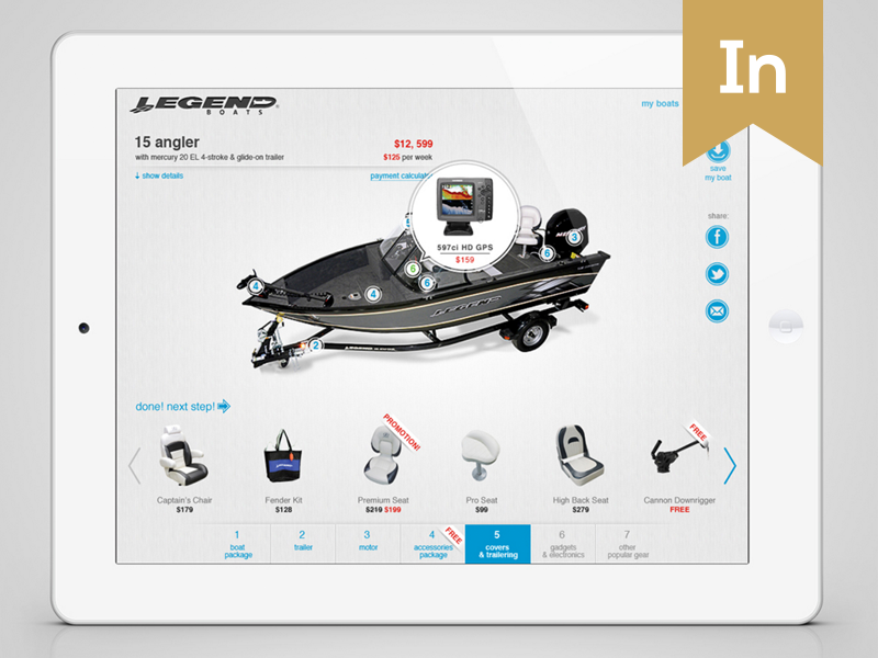 LegendBoats Builder Application