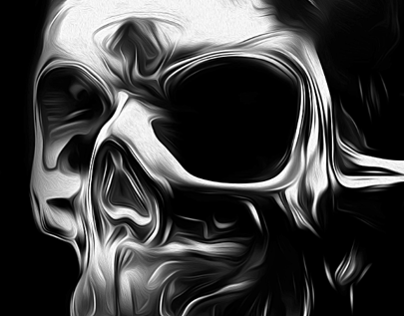 FANTASMAGORIK® METALLIC SKULL FACE 2
