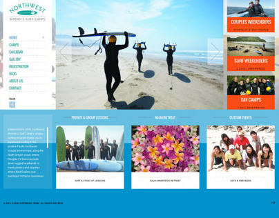 NW Womens Surf Camp Website - 2013