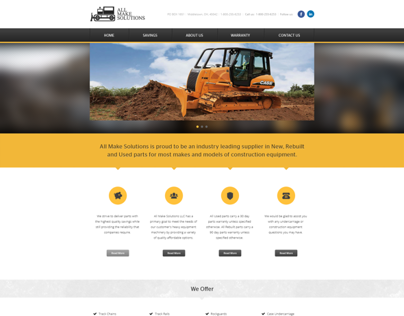 AMS - All Make Solutions LLC website redesign