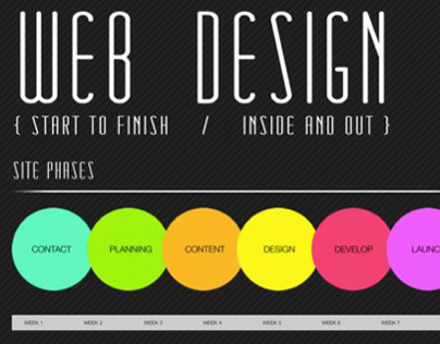 Web Design Interactive CSS3 Infographic