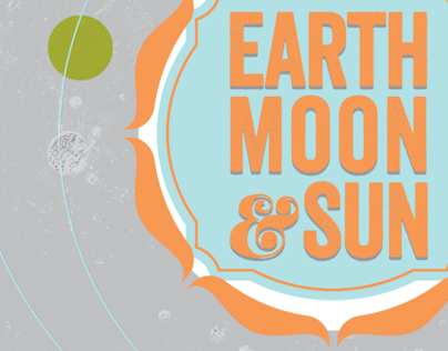 Earth, Moon and Sun Poster