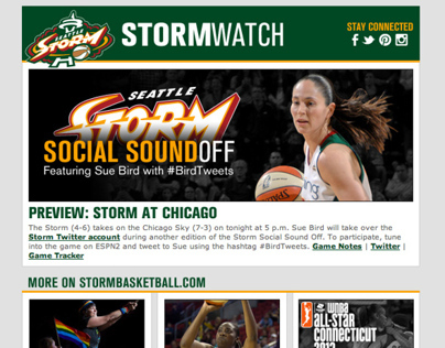 Seattle Storm: StormWatch E-Newsletter Template