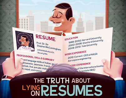 The truth about lying on resumes - infographic