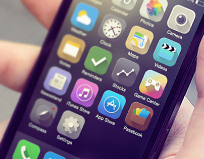 Long shadow love: iOS 7 icons redesign