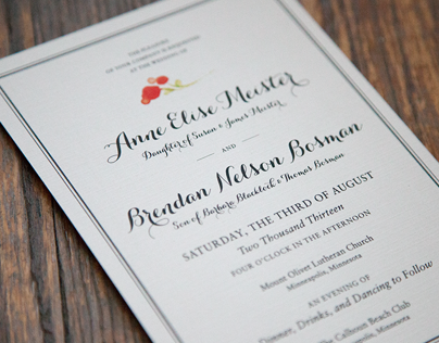 Annie & Brendans Wedding Invitations