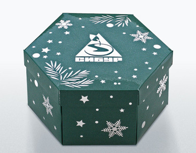 Hexagonal box with transforming bottom