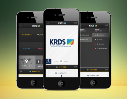 KRDS Website Mobile UI