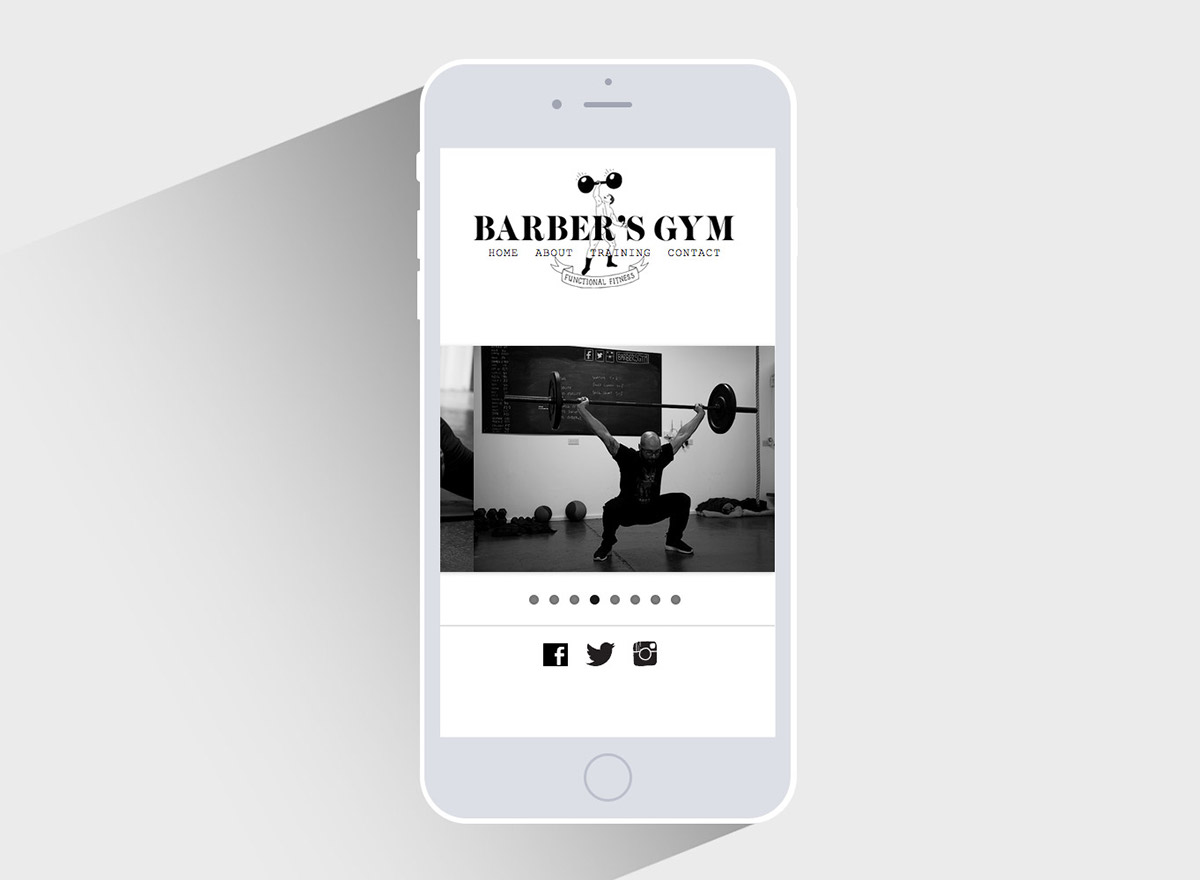 Barbers Gym Website