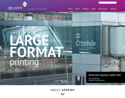 Apprint.eu webdesign