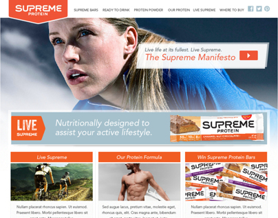 Supreme Protein Site - Alternate Concept