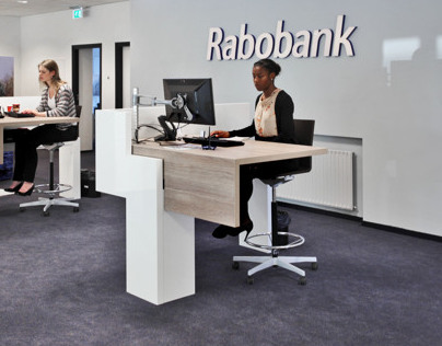 Quickservice desk, Rabobank Loosdrecht, the Netherlands