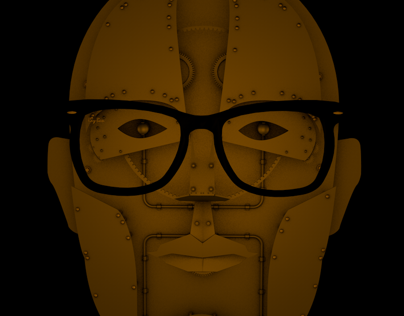 My face mechanical (self-portrait) in progress