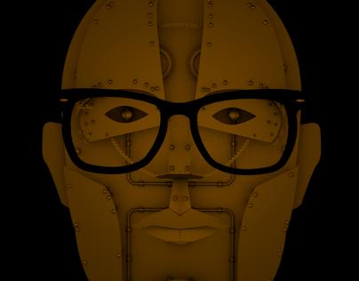 My face mechanical (self-portrait) in progress
