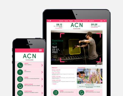 Art Center at Night Website