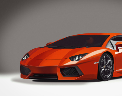 Lamborghini Digital Painting.
