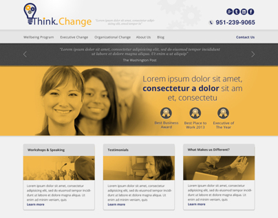 Think Change Website