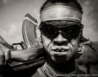Omo Valley in black and white