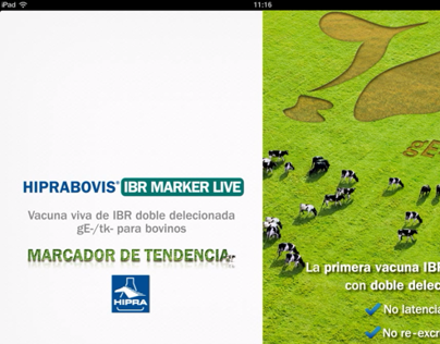 HipraBovis App for Apple iPad: IBR Marker Live Vaccine