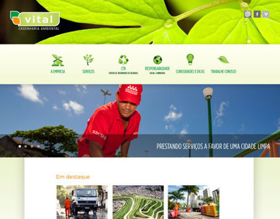 Website Vital Engenharia Ambiental
