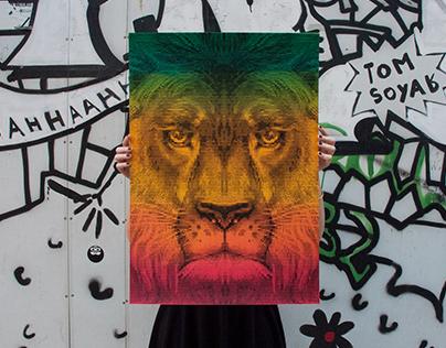 Lion, Limited Silkscreen Print