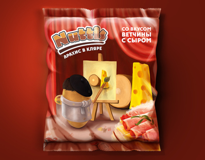 Packaging design. Peanuts in batter