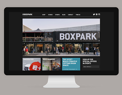 Boxpark Shoreditch Website - www.boxpark.co.uk