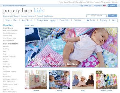 Pottery Barn Kids (Web Design)