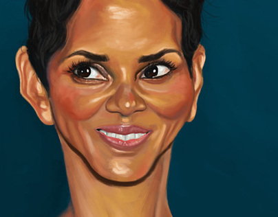 Halle Berry Portrait