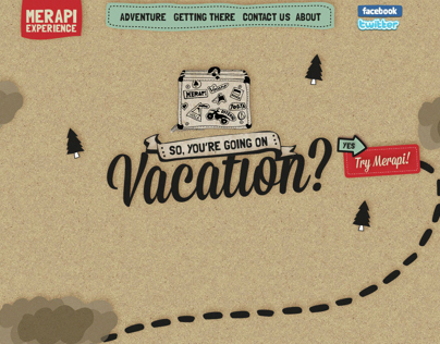 Mount Merapi Tourism Campaign Website