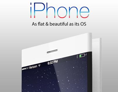 iPhone : A flat & flexible concept